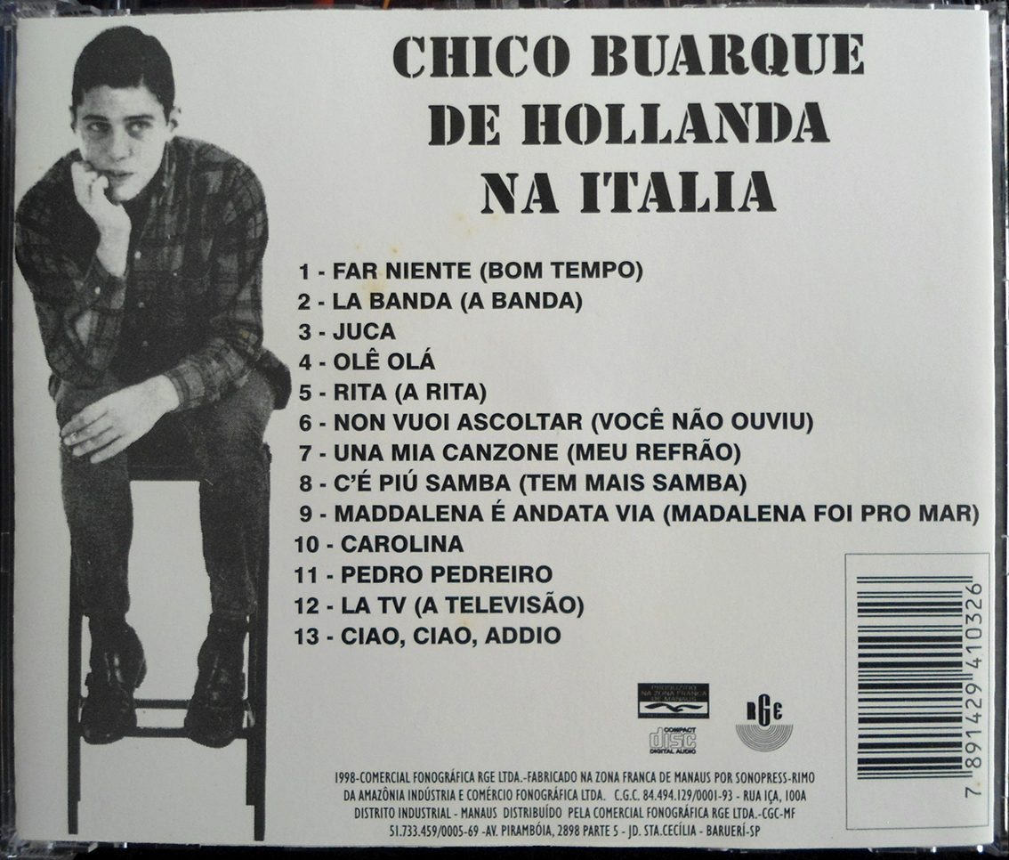 chico buarque in Italia